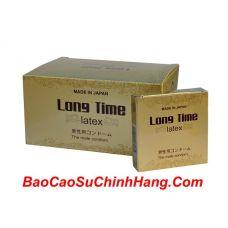 05 Hộp LongTime Latex: bao cao su hàng đầu tại Nhật Bản với tính năng kéo dài thời gian và tăng cường cảm xúc ( 5 hộp x 3 cái )